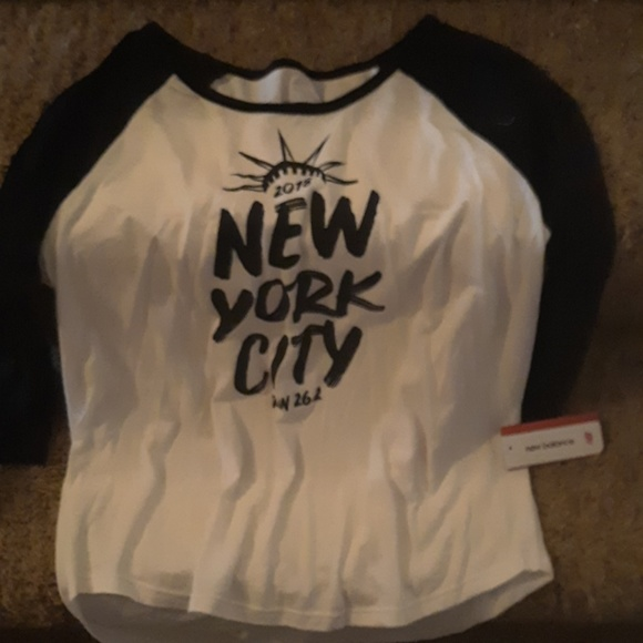 4763fc4acfb40 New Balance Tops | Black And White New York City Long Sleeve Tee ...
